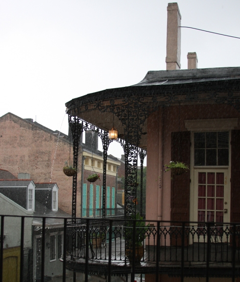 A rainy day in New Orleans